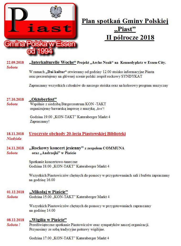Plan spotkan 2-2018